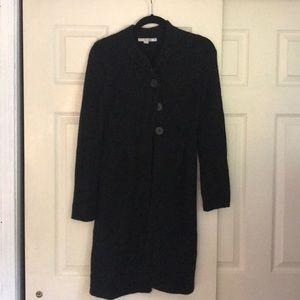 Long black wool/alpaca BODEN sweater